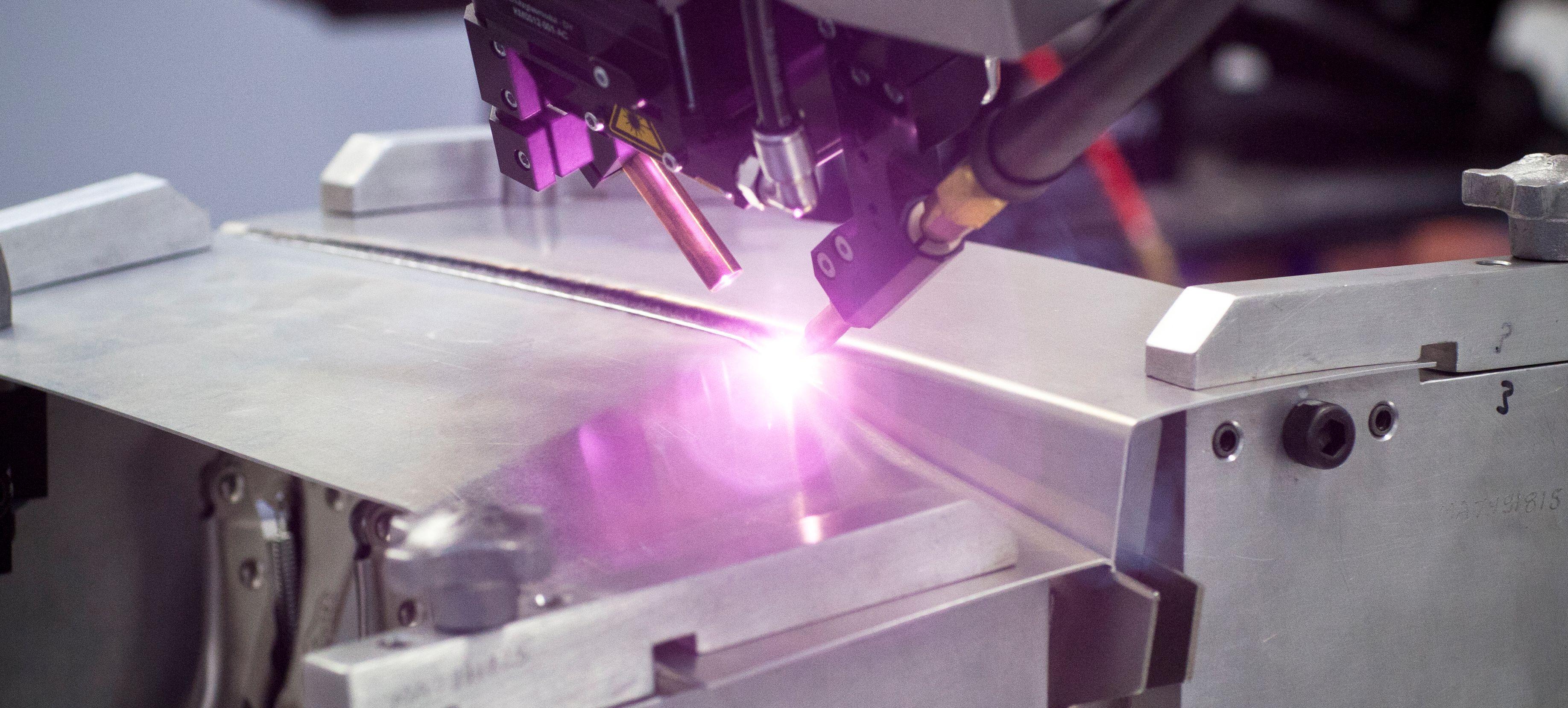 Prozess Laserschweißen Aluminium