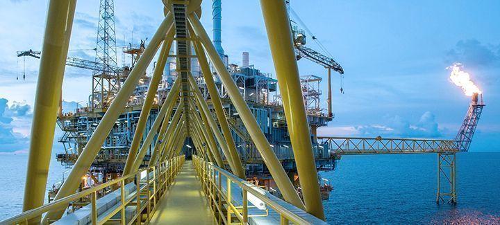 Plattform Öl- und Gasindustrie