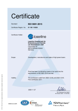 Certificate quality ISO 9001:2015 valid from 2017 to 2020 English